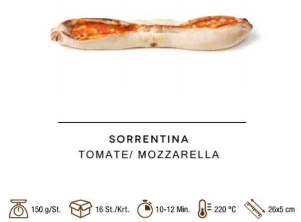 Sorrentina Tomaten-Mozzarella - Schiffchen 150 g